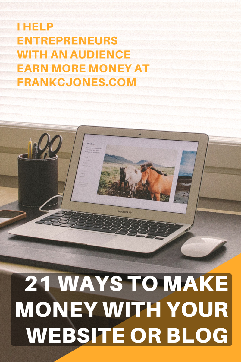 Report cover for the 21 ways to make more money with your website