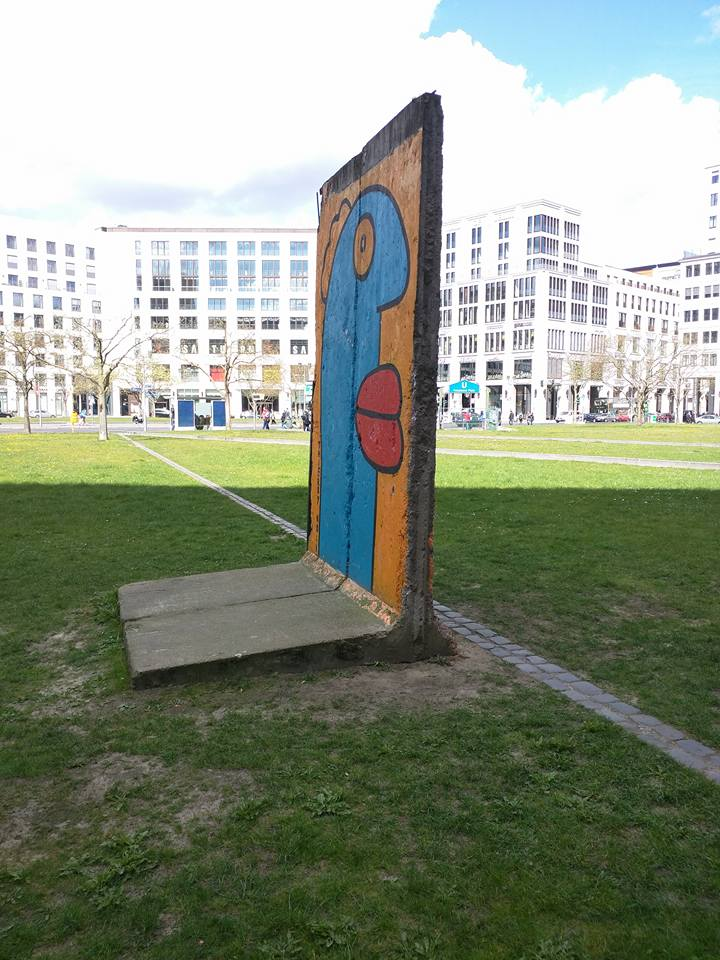 A section of the Berlin wall