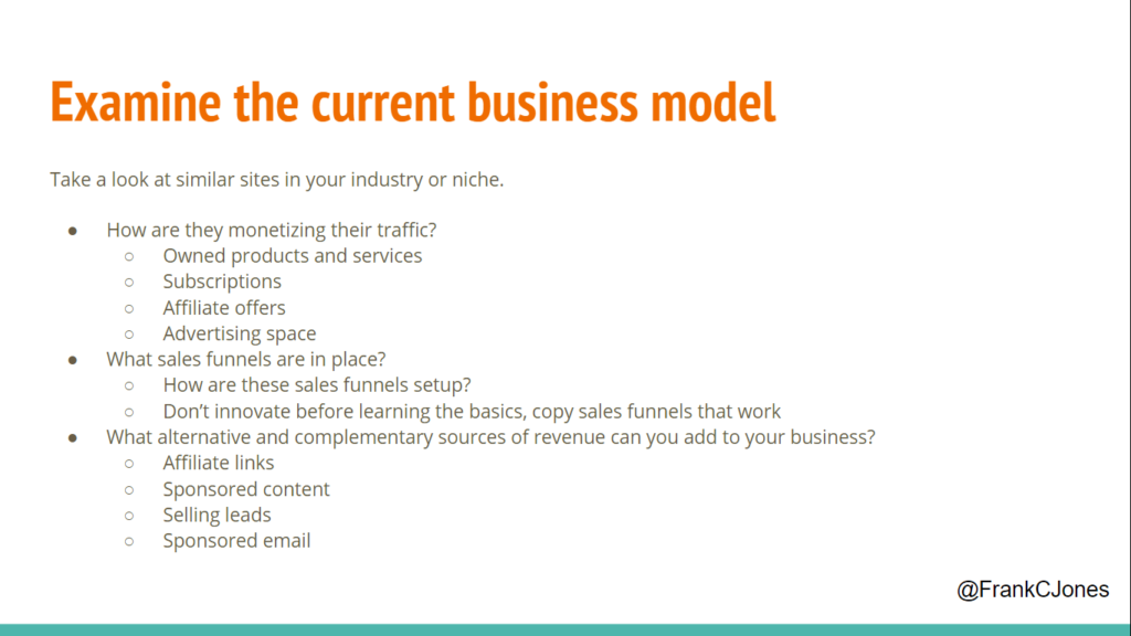 Take apart the current business model to find opportunities
