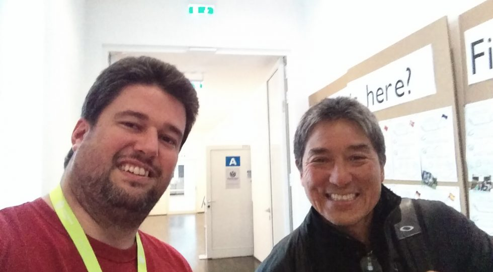 Guy Kawasaki and Frank C Jones at the Berlin Wikipedia Conference
